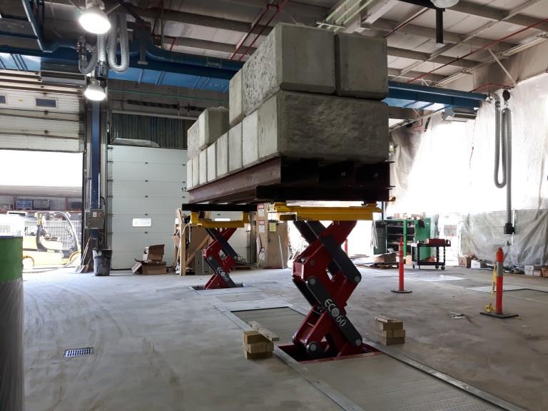 Lakeshore Garage Bus Hoist Replacement 2